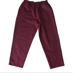 Vintage highwaisted slouchy burgundy trousers 14